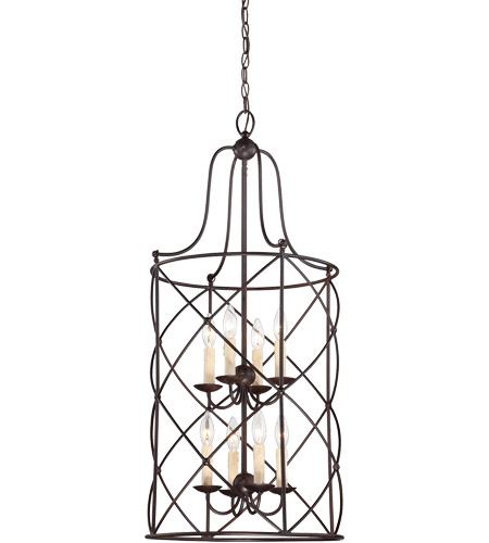 Savoy House Seneca 8 Light Foyer in English Bronze 3-4071-8-13