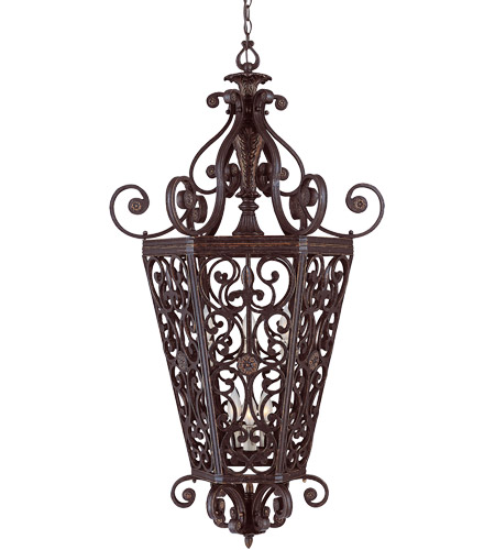 Savoy House Cordoba 6 Light Foyer Pendant in Antique Copper 3-4089-6-16 photo