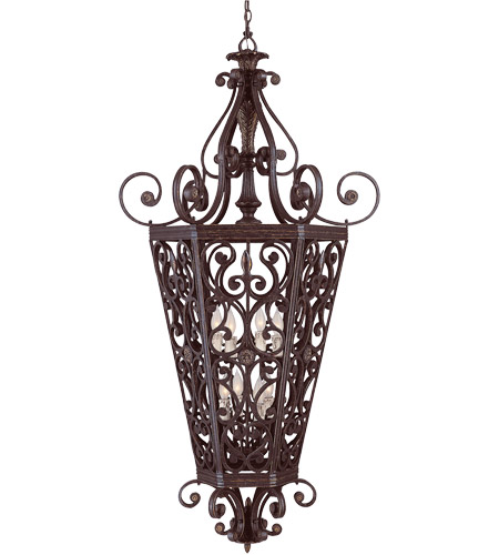 Savoy House Cordoba 8 Light Foyer Pendant in Antique Copper 3-4090-8-16 photo