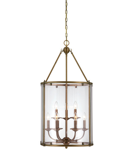 Savoy House Foxcroft 9 Light Foyer in Aged Brass 3-4152-9-291 photo