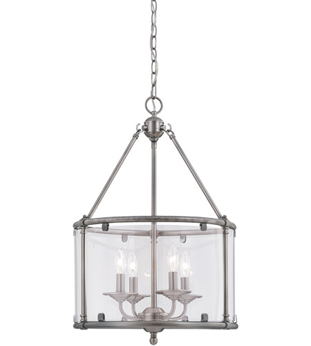 Savoy House 3-4153-4-187 Foxcroft 4 Light 17 inch Brushed Pewter Foyer Ceiling Light photo