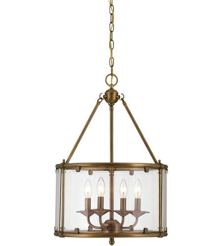 Savoy House Foxcroft 4 Light Foyer in Aged Brass 3-4153-4-291 photo