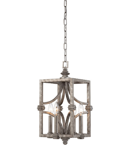 Savoy House Structure 4 Light Foyer in Aged Steel 3-4302-4-242