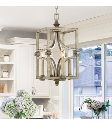 Savoy House 3-4302-4-242 Structure 4 Light 9 inch Aged Steel Foyer Light Ceiling Light 3-4302-4-242_LS.jpg