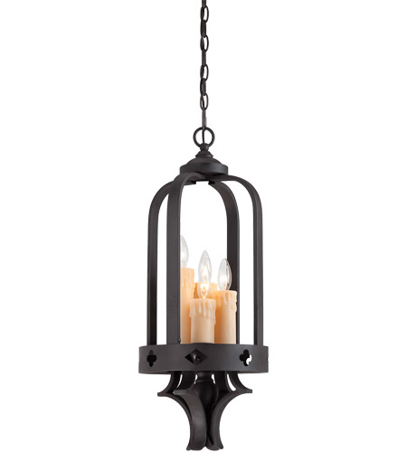 Savoy House 3-4400-4-17 Torre 4 Light 11 inch Forged Black Foyer Ceiling Light photo