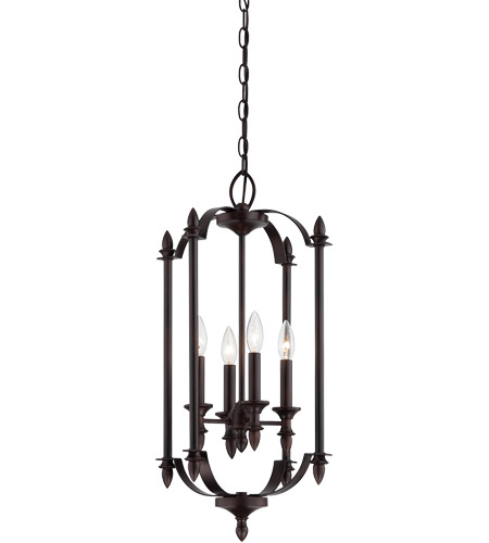 Savoy House 3-4500-4-13 Aldrich 4 Light 14 inch English Bronze Foyer Ceiling Light photo