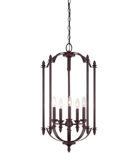 Savoy House Aldrich 5 Light Foyer in English Bronze 3-4501-5-13 photo
