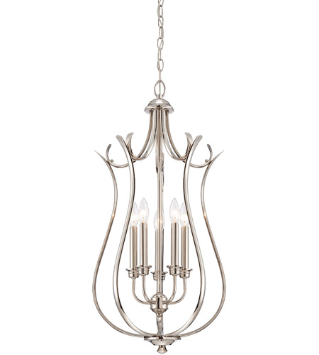 Savoy House Macree 5 Light Foyer in Polished Nickel 3-4503-5-109