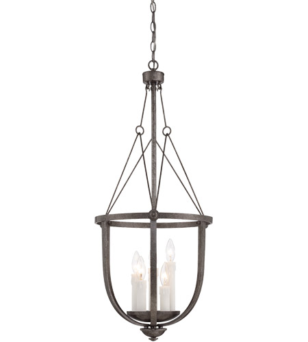 Savoy House 3-6002-5-285 Epoque 5 Light 16 inch Antique Nickel Foyer Lantern Ceiling Light photo