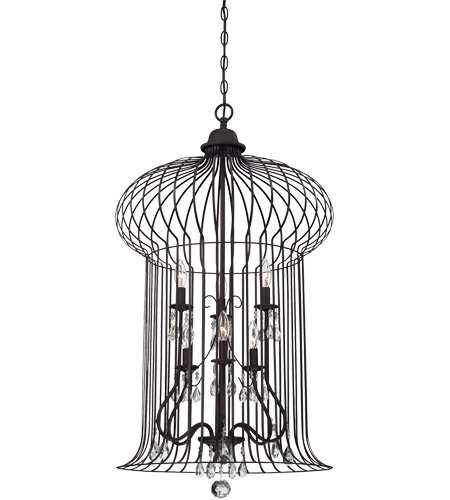 Savoy House Abagail 6 Light Foyer in Forged Black 3-6102-6-17