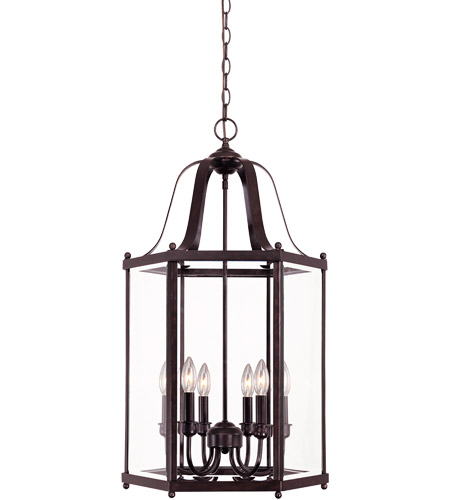 Savoy House Signature 6 Light Foyer Pendant in English Bronze 3-7246-6-13 photo