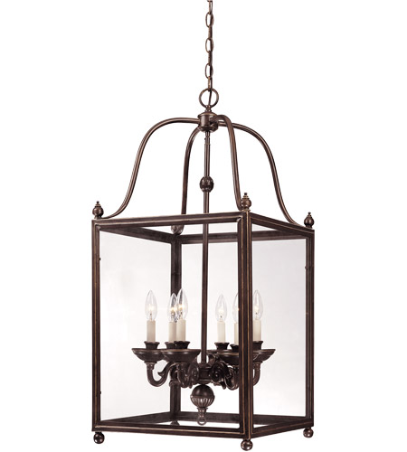 Foyer Pendant Lighting Bronze : Savoy house crabapple light foyer in old bronze