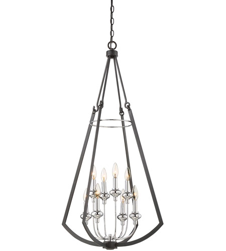 Savoy House 3 8051 8 67 Dinant Light 23 Inch Matte Black With Polished Chrome Accents Foyer Lantern Ceiling