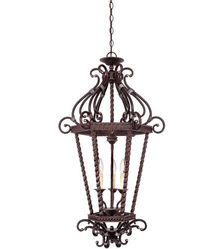 Savoy House Kensley 3 Light Foyer Pendant in Distressed Bronze 3-8617-3-59 photo