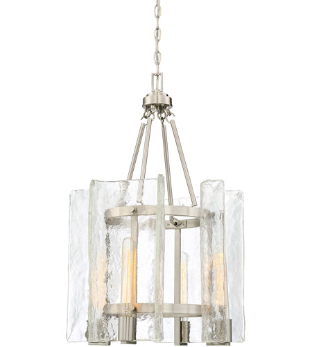Savoy House 3-9052-4-SN Handel 4 Light 17 inch Satin Nickel Foyer Light Ceiling Light photo