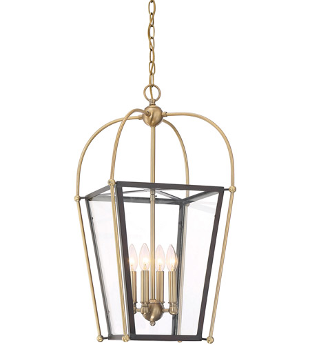 Savoy House 3-9074-4-79 Dunbar 4 Light 14 inch English Bronze and Warm Brass Foyer Pendant Ceiling Light photo
