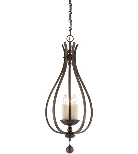 Savoy House 3-9538-3-196 Alsace 3 Light 14 inch Reclaimed Wood Foyer Ceiling Light photo
