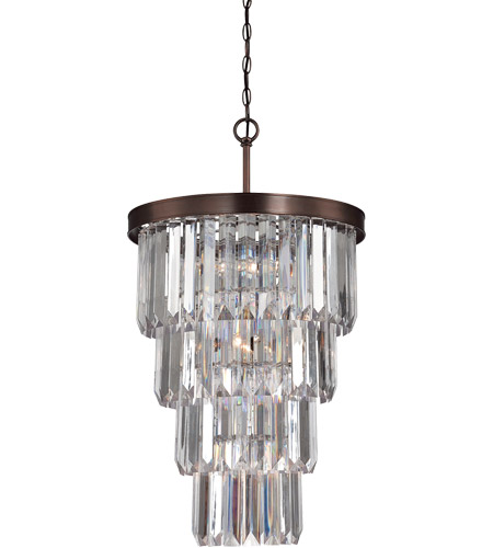 Savoy House Tierney 7 Light Foyer in Burnished Bronze 3-9801-7-28