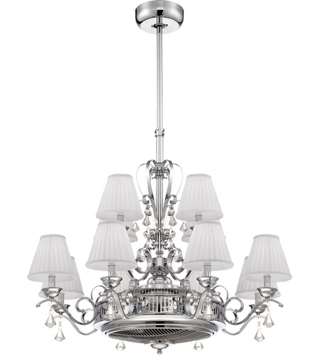 Savoy House Coromell 12 Light Fandelier in Polished Chrome 38-330-FD-11 photo