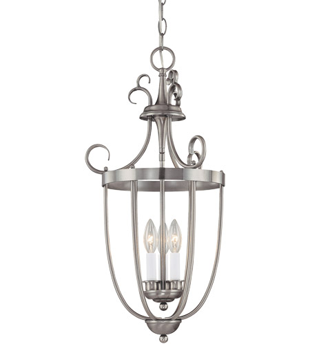 Savoy House 3P-80200-3-69 Foyer 3 Light 14 inch Pewter Entry Lantern Ceiling Light photo