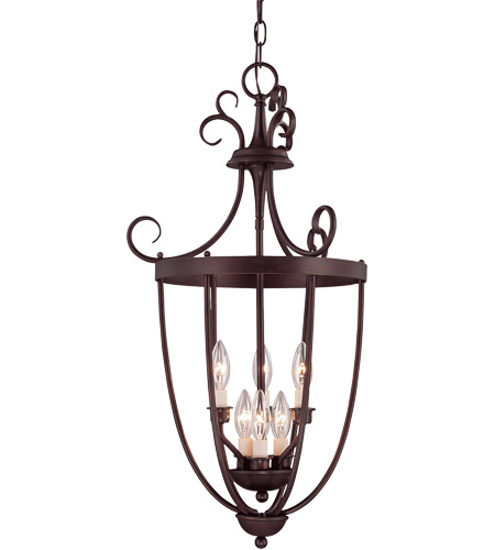 Savoy House 3P-80201-6-13 Foyer 3 Light 18 inch English Bronze Entry Lantern Ceiling Light photo