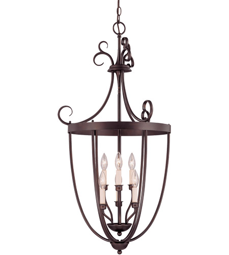 Savoy House 3P-80202-6-13 Foyer 3 Light 20 inch English Bronze Entry Lantern Ceiling Light photo