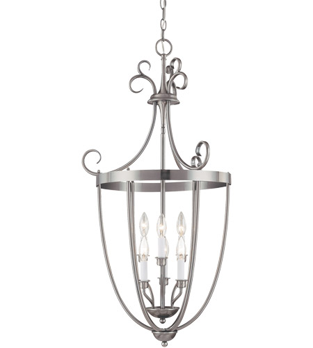 Savoy House 3P-80202-6-69 Signature 6 Light 20 inch Pewter Entry Lantern Ceiling Light photo