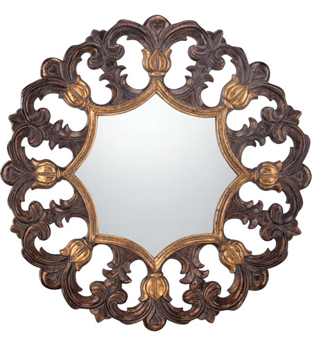 Savoy House 4-BLGF409ET-228 Traci 46 X 46 inch Gold Wall Mirror photo