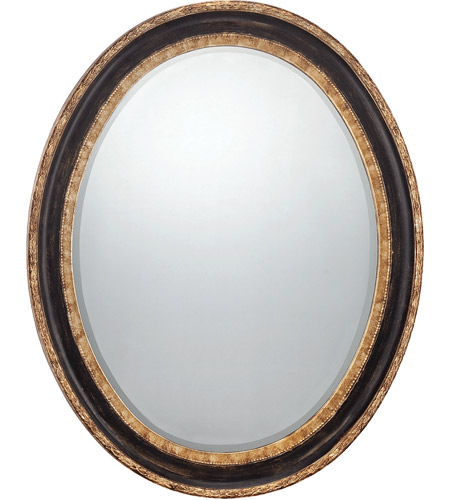 Savoy House Reese Mirror in Dark Bronze with Gold Accents 4-FOV3353-221