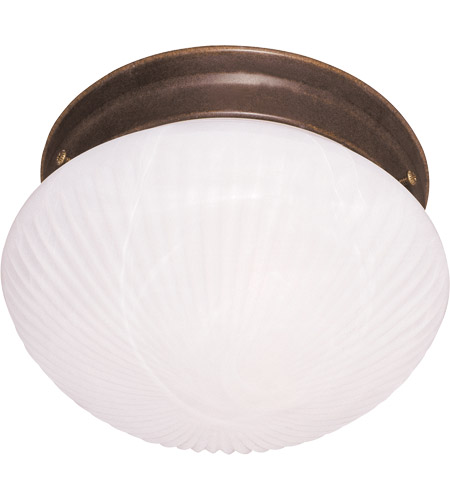 Savoy House Signature 1 Light Flush Mount in Brownstone 400-BN