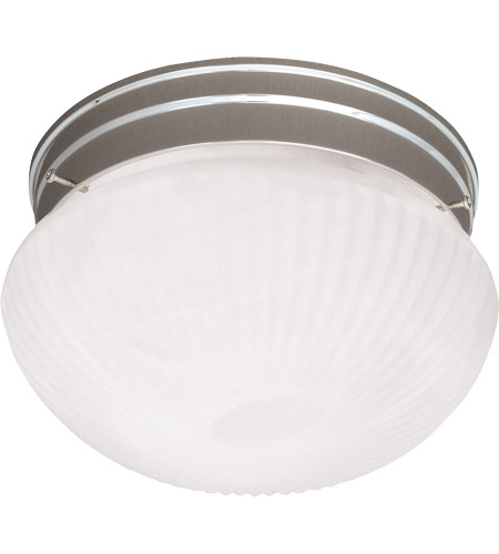 Savoy House 403-SN Signature 2 Light 9 inch Satin Nickel Flush Mount Ceiling Light in Ribbed Marble photo