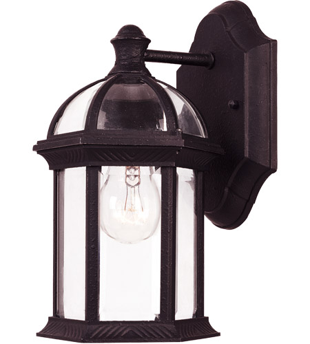 Savoy House Kensington 1 Light Outdoor Wall Lantern in Textured Black 5-0629-BK