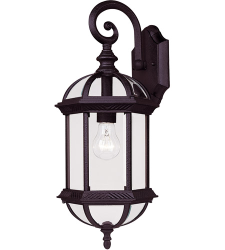Savoy House Kensington 1 Light Wall Lantern in Textured Black 5-0630-BK photo
