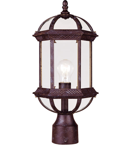 Savoy House Kensington 1 Light Outdoor Post Lantern in Rustic Bronze 5-0632-72