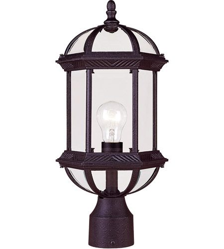 Savoy House Kensington 1 Light Outdoor Post Lantern in Textured Black 5-0632-BK