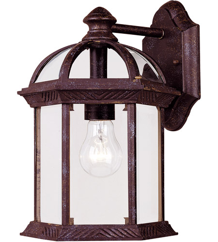 Savoy House Kensington 1 Light Outdoor Wall Lantern in Rustic Bronze 5-0634-72