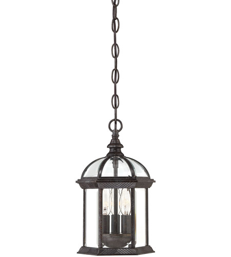 Savoy House Kensington 3 Light Outdoor Hanging Lantern in Rustic Bronze 5-0635-72 photo