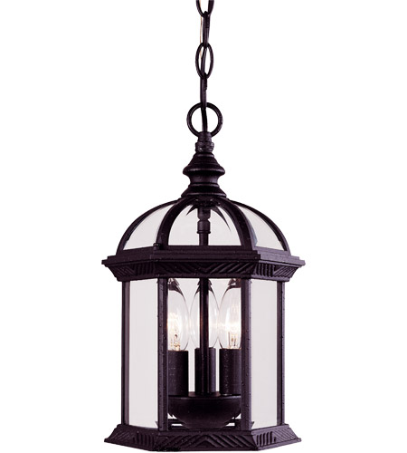 Savoy House Kensington 3 Light Outdoor Hanging Lantern in Textured Black 5-0635-BK