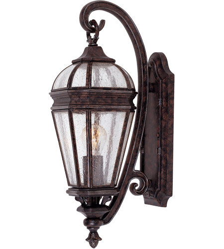 Savoy House Via Vete 1 Light Outdoor Wall Lantern in New Tortoise Shell w/ Silver 5-105-8 photo