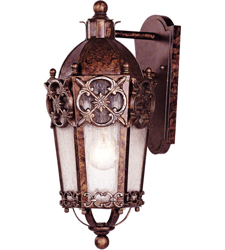 Savoy House Torino 1 Light Outdoor Wall Lantern in New Tortoise Shell w/Silver 5-1059-8 photo