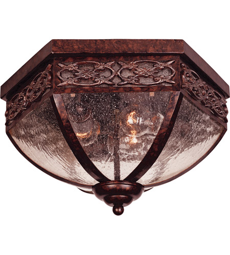 Savoy House Loire Valley Torino Exterior Flush Mount in New Tortoise Shell w/Silver 5-1066-8 photo