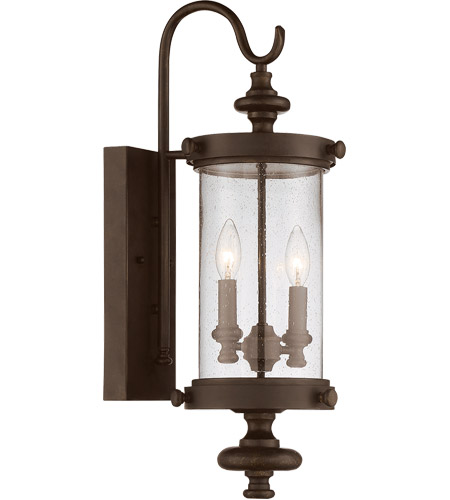 Savoy House 5 1220 40 Palmer 2 Light 24 Inch Walnut Patina Outdoor Wall Lantern 12 1 4 And Wide For Back Plate Center Of The Mount To Top