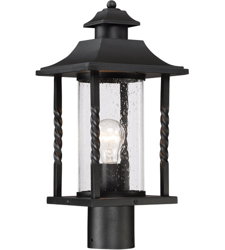 Savoy House 5-1233-BK Dorado 1 Light 18 inch Black Outdoor Post Lantern photo