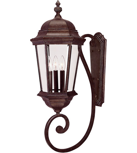 Savoy House 5-1300-40 Wakefield 3 Light 31 inch Walnut Patina Outdoor Wall Lantern photo