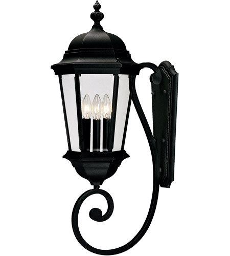 Savoy House 5-1300-BK Wakefield 3 Light 31 inch Textured Black Outdoor Wall Lantern photo