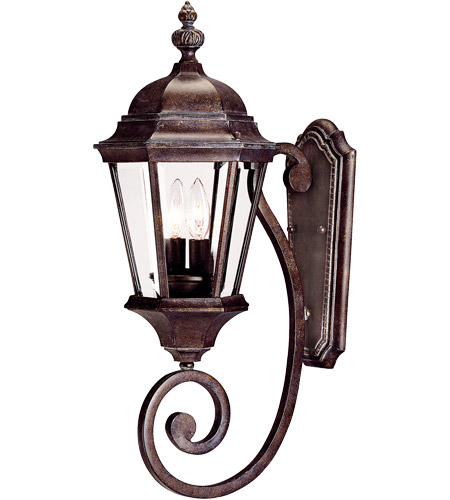 Savoy House Wakefield 2 Light Outdoor Wall Lantern in Walnut Patina 5-1301-40