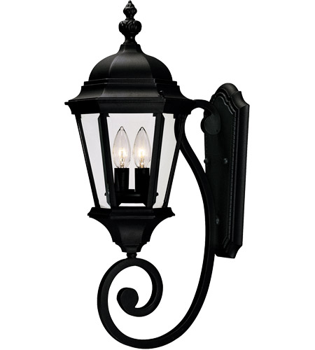 Savoy House Wakefield 2 Light Outdoor Wall Lantern in Textured Black 5-1301-BK