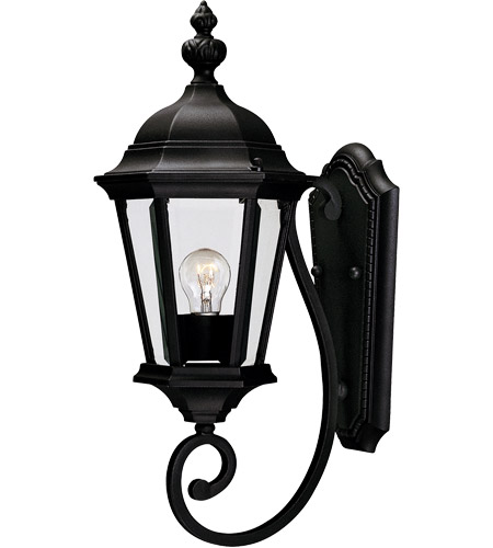Savoy House Wakefield 1 Light Outdoor Wall Lantern in Textured Black 5-1302-BK