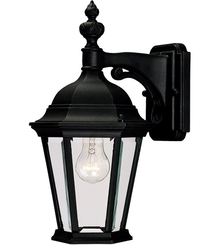 Savoy House Wakefield 1 Light Outdoor Wall Lantern in Textured Black 5-1304-BK photo