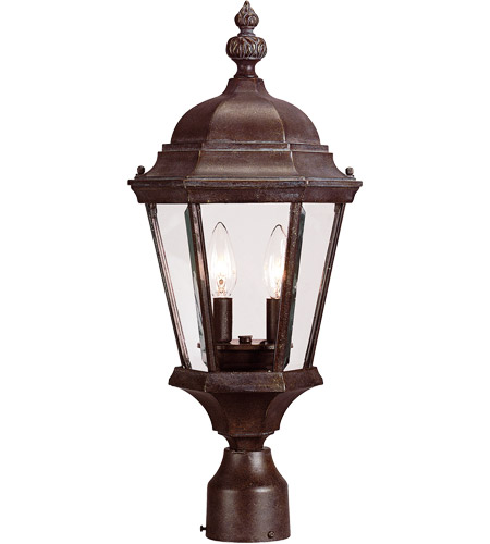 Savoy House Wakefield 2 Light Post Lantern in Walnut Patina 5-1305-40 photo